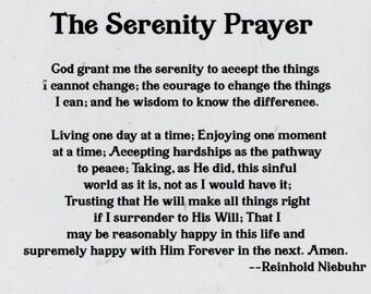 "4"" x 5.5"" Serenity Prayer Magnet"