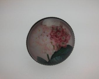 ring adjustable pink hydrangeas romantic Poetics