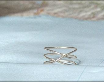 handmade minimalist celtic inspiration sterling silver eco ring