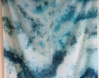 Blue hand dyed scarf