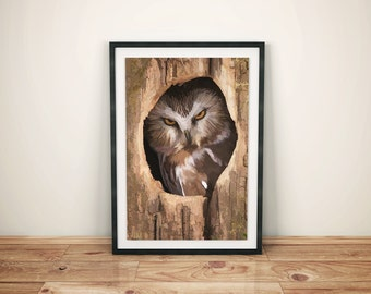 Owl print owl art animal print nursery print bird Art owl wall art bird prints owl art print owl prints woodland animals animal wall art