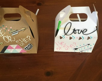 Gable box party favors