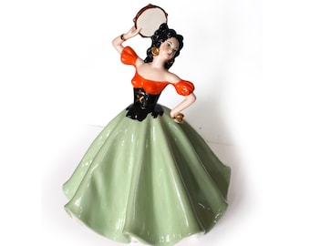 "17"" Vintage Porcelain Dancer"
