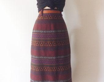 Southwestern Print Pencil Skirt