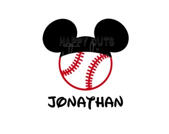 Personalized Baseball Sports Hat Mickey Mouse Matching Dad Husband Father Son Family Disney Iron On Decal Vinyl for Shirt 080