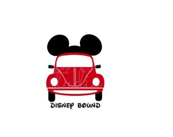 Disney Bound Car Decal 4 Shirt/Here I Come! Road Trip Family Boy Girl Beetle Vacation Ears Cap Mickey Minnie Mouse Disney Iron On Vinyl 088