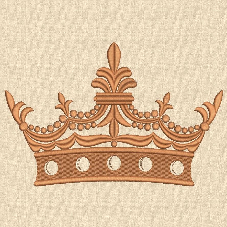 crown embroidery design machine embroidery design