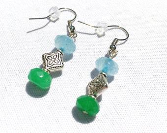 Sea Blue Green Earrings