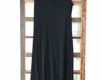 Vintage Claudie Pierlot Black Viscose Dress Shift Size 3 Made in France