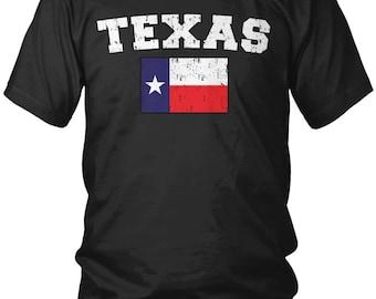 Distressed Texas State Flag Men's T-Shirt, Texan Pride, The Lone Star State, Austin, Men's Texas Shirts AMD_0595