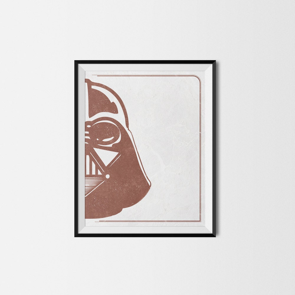 Vintage Star Wall Decor : Darth vader vintage style wall art star wars