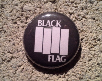 Black Flag one inch pinback button