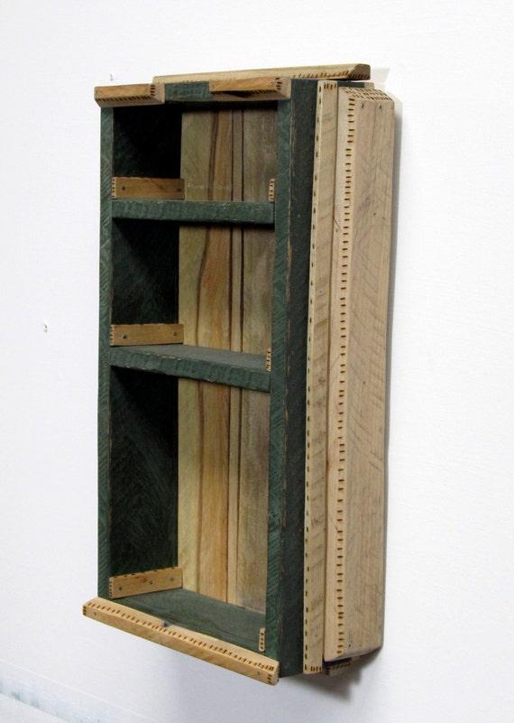 Reclaimed Wood Pallet Wood Display Cabinet Rustic by ...