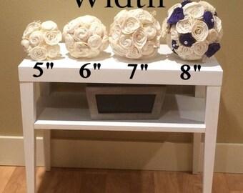 Bouquet Sizes, Bridal bouquet, Bridesmaid bouquet, Sola Flowers, Sola bouquet