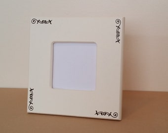 small picture frame, cream picture frame, 3 x 3 picture frame, brown picture frame, 8 x 8 picture frame, picture frame, 4 x 6 picture frame
