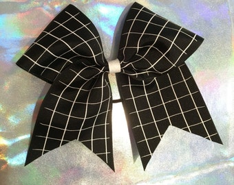 Grid Pattern Cheer Bow