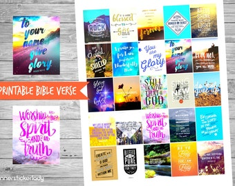Printable Bible Verse #2 For Erin Condren Planner