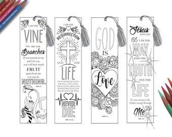 Coloring In Bible Bookmarks Bible Journaling PRINTABLE