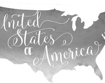 United States Metal Wall Decor