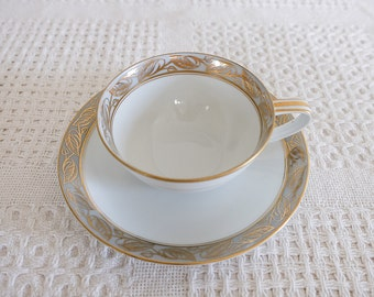 Set of 7 Vintage Noritake Greta #5272 Teacup and Saucer