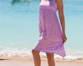 Holly Dress, Beach Dress, Sundress, Summer Dress, Womens Sundress, Purple Dress, Spaghetti Strap Dress, 103-105