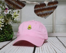 Vintage AVOCADO Baseball Cap Low Profile Dad Hats Baseball Hat Embroidery Pink