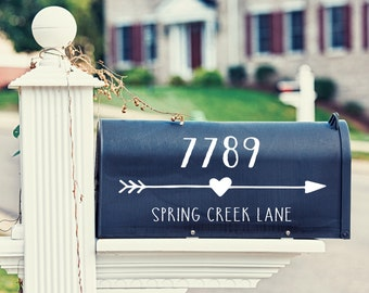 Mailbox Decal Personalized Address Sticker - Decal For Mailbox - 54 Color Options