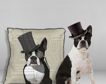 Boston Terrier gifts boston terrier pillows dog pillow cute Boston Terrier lover gift for dog owner dog throw pillow dog gift pet pillow