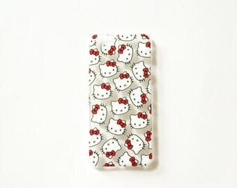 "Hello Kitty Clear Apple iPhone Case 6/6s 4.7"" - Hard Plastic Case"