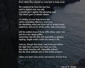 "Poem Print ""A night like steel-blue"""
