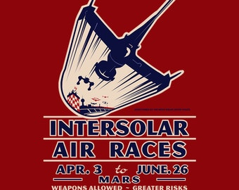 Intersolar Air Races - Cowboy Bebop Swordfish II LADIES FIT T-Shirt - Anime Air Racing Vintage Clothing