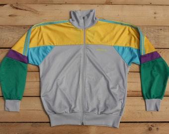 "Vintage Retro 90s ""ADIDAS"" made in Hong Kong 180 sweater tracksuit zip jumper tuta felpa Taglia/Size: M"