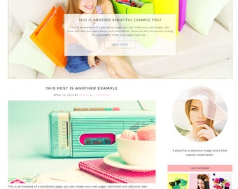 Responsive Wordpress Theme - Genesis Child Theme - Hello Darling - Wordpress Template - Wordpress Blog - Blog Design