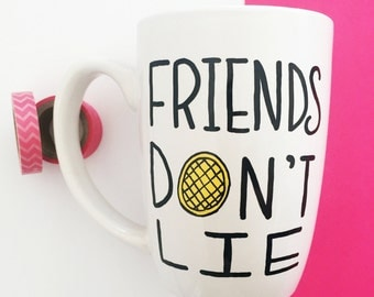 Stranger Things Mug, Friends Don't Lie Coffee Mug, Coffee And Contemplation, Unique Coffee Mug, Gifts For Best Friend, Gifts For Her,