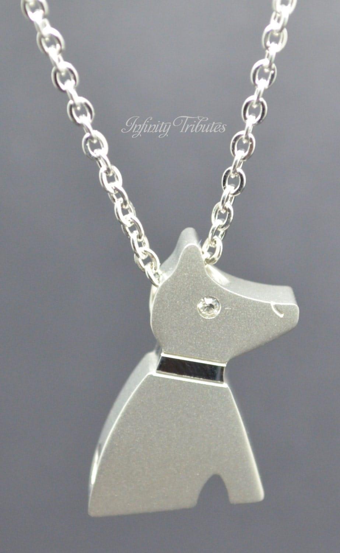 dog keepsake urn pendant cremation charm necklace holds. Black Bedroom Furniture Sets. Home Design Ideas