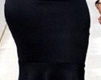 Peplum Pencil Skirt