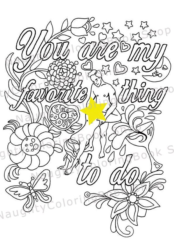 Funny Valentine Gift Naughty Sexy Valentines Day Coloring Page For Boyfriend Anniversary