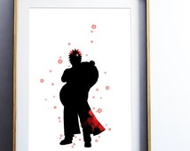 Gaara Naruto Watercolor Print Naruto Art Painting Splash Anime Ninja Illustration, Gift, kids children Kid Fifth Kazekage WC052