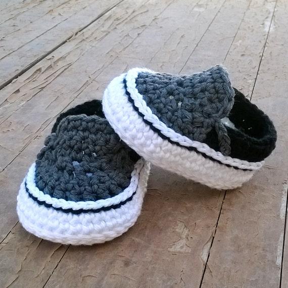 Free Crochet Pattern For Vans Slippers : PATRON Zapatillas crochet estilo Vans . por ...