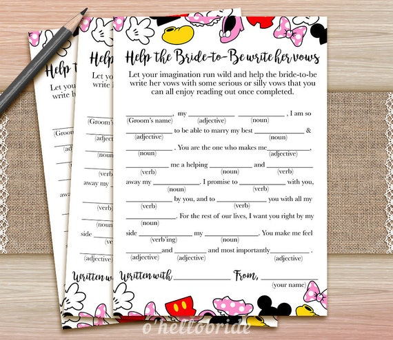Writing Your Own Wedding Vows: Help The Bride To Be Write Her Vows Game Guess Wedding Vows