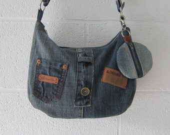 Recycled jeans + portemonaie bag