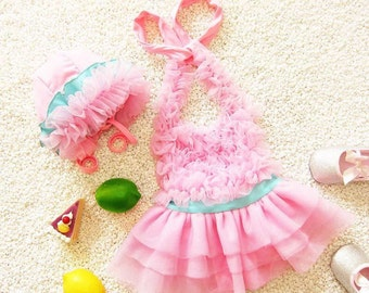 Girls Swimsuit, One Piece, Bathing Suit, Toddler, Lola Swimsuit