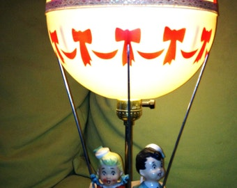 Beautiful nursery lamp hot air balloon 60s hot air balloon vintage lamp
