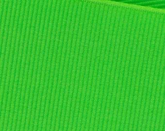 Neon Green Grosgrain Ribbon   (05-##-S-258)