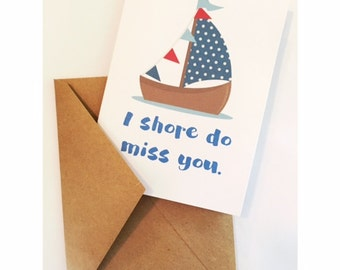 Shore Do Miss You Card