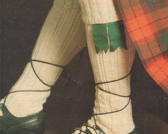 PDF Kilt Hose Socks Knitting Pattern : 3 Designs . Instant Digital Download