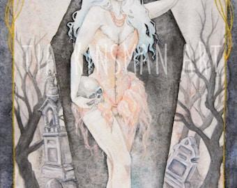 Requiem Limited Edition Hand Embellished  Fine Art Print