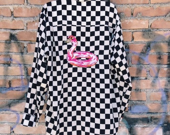 80s MOSCHINO COUTURE! checked shirt
