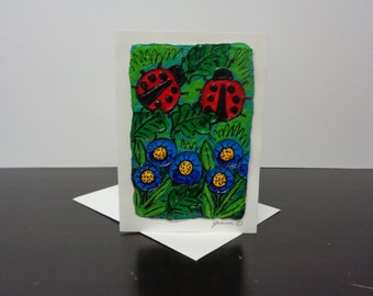 Two Lady Bugs Card