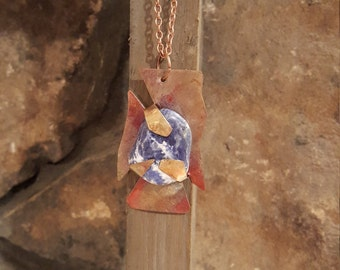 25% off Sodalite and copper necklace